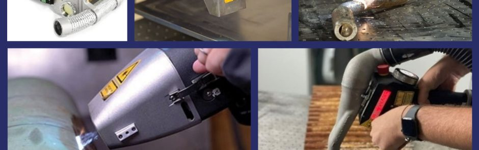 Collage of 1D Handheld Laser Cleaning Optics